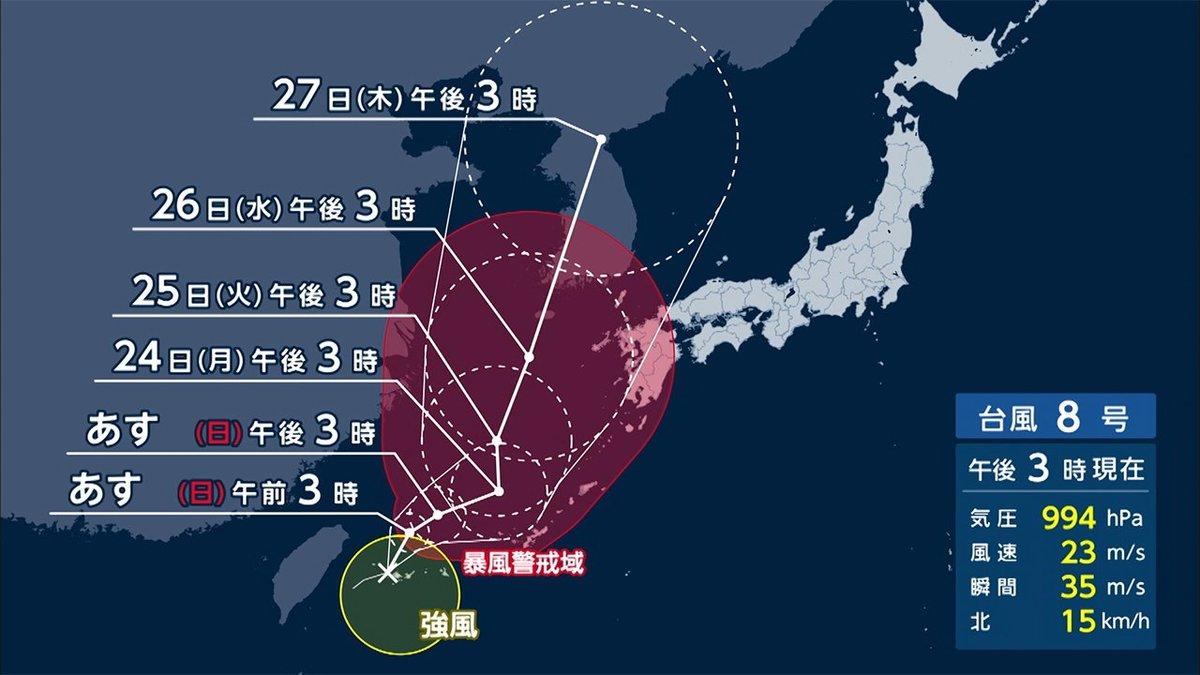 フジテレビ 台風情報の正しい見方