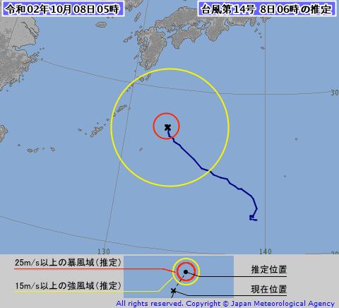 台風14号推定