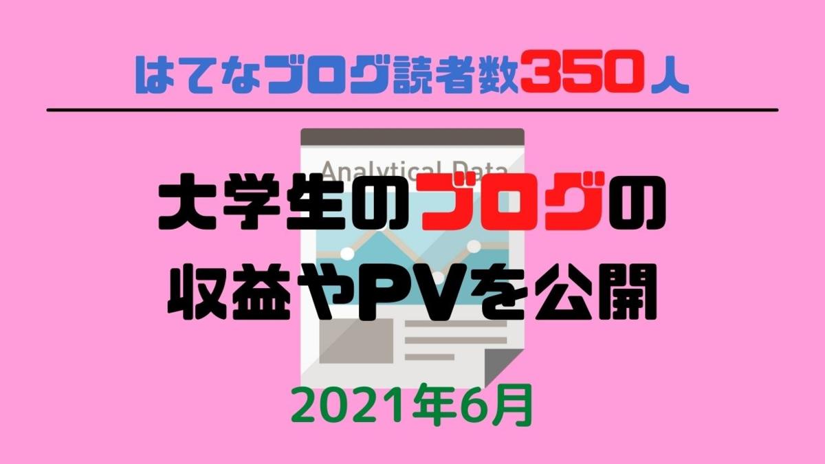 大学生ブログ収益【6月経過報告】
