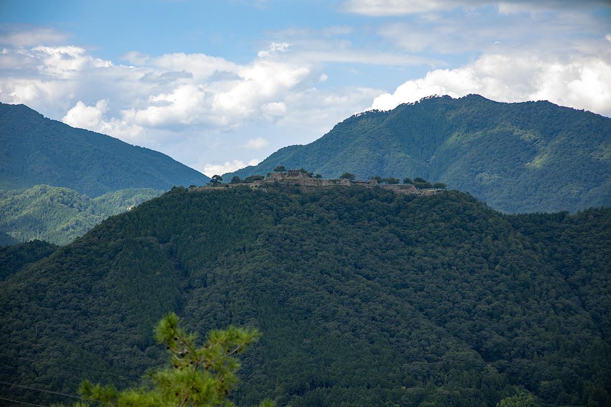 立雲峡から竹田城跡の眺め