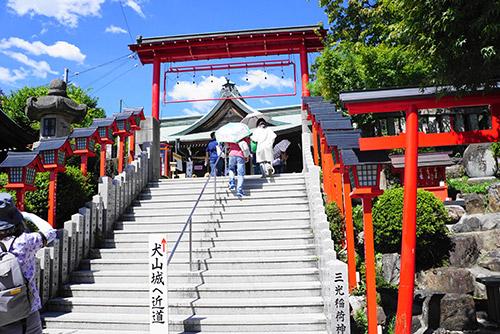 犬山城のふもとの三光稲荷神社