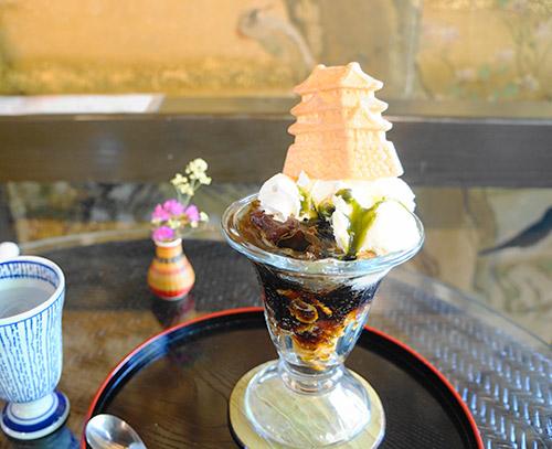 カフェさくら坂の和風コーヒーゼリーパフェ