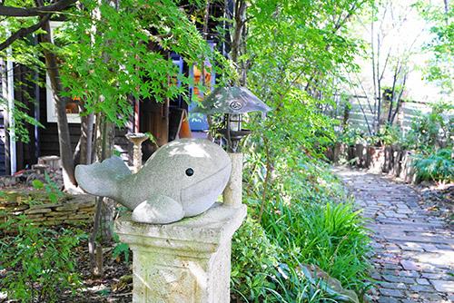 カフェけやきの杜のお庭