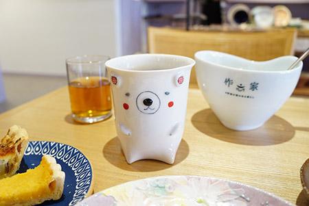 作家の器のある暮らしカフェのカップ
