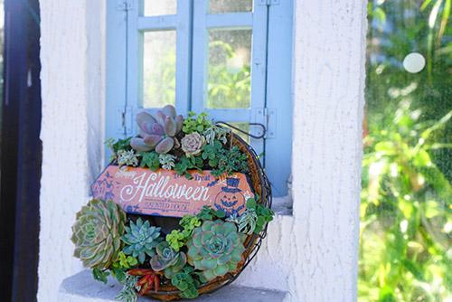 久屋大通庭園フラリエのハロウィーンの飾り