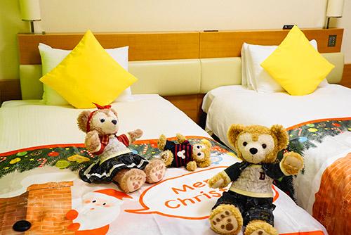 東京ベイ舞浜ホテルクリスマスルームにて