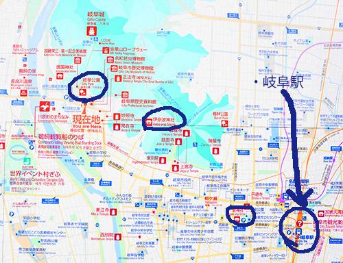岐阜市街地マップ