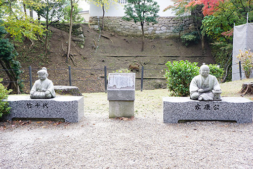 岡崎城のすぐ近くにある竹千代と家康