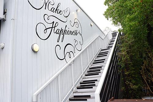 階段がピアノの鍵盤