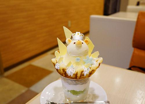 i-cafeの冬のくまメニュー「クマは雪の女王」