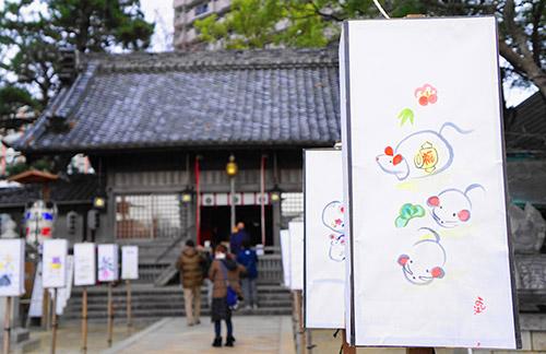 菅生神社と行灯