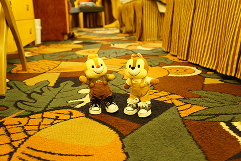 アンバサダーホテルのチップ&デールルーム