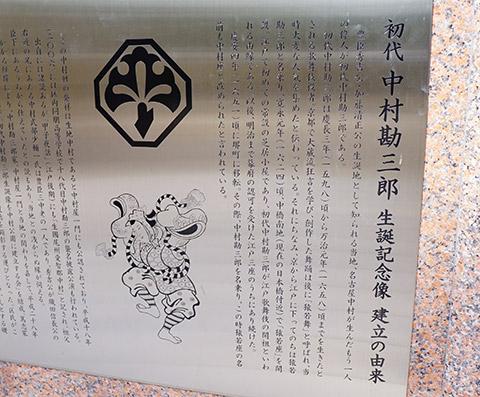 初代 中村勘三郎 生誕の地