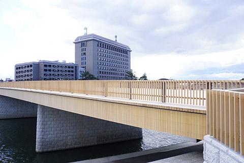 完成が楽しみな岡崎市の桜城橋