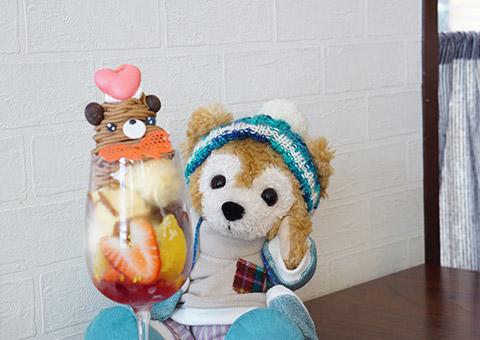 熊パフとマイダッフィー記念撮影