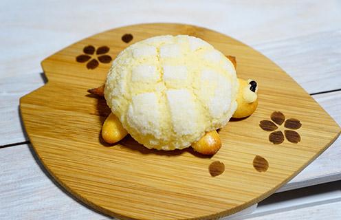 かめの形のメロンパン