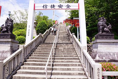 本堂へ向かう階段