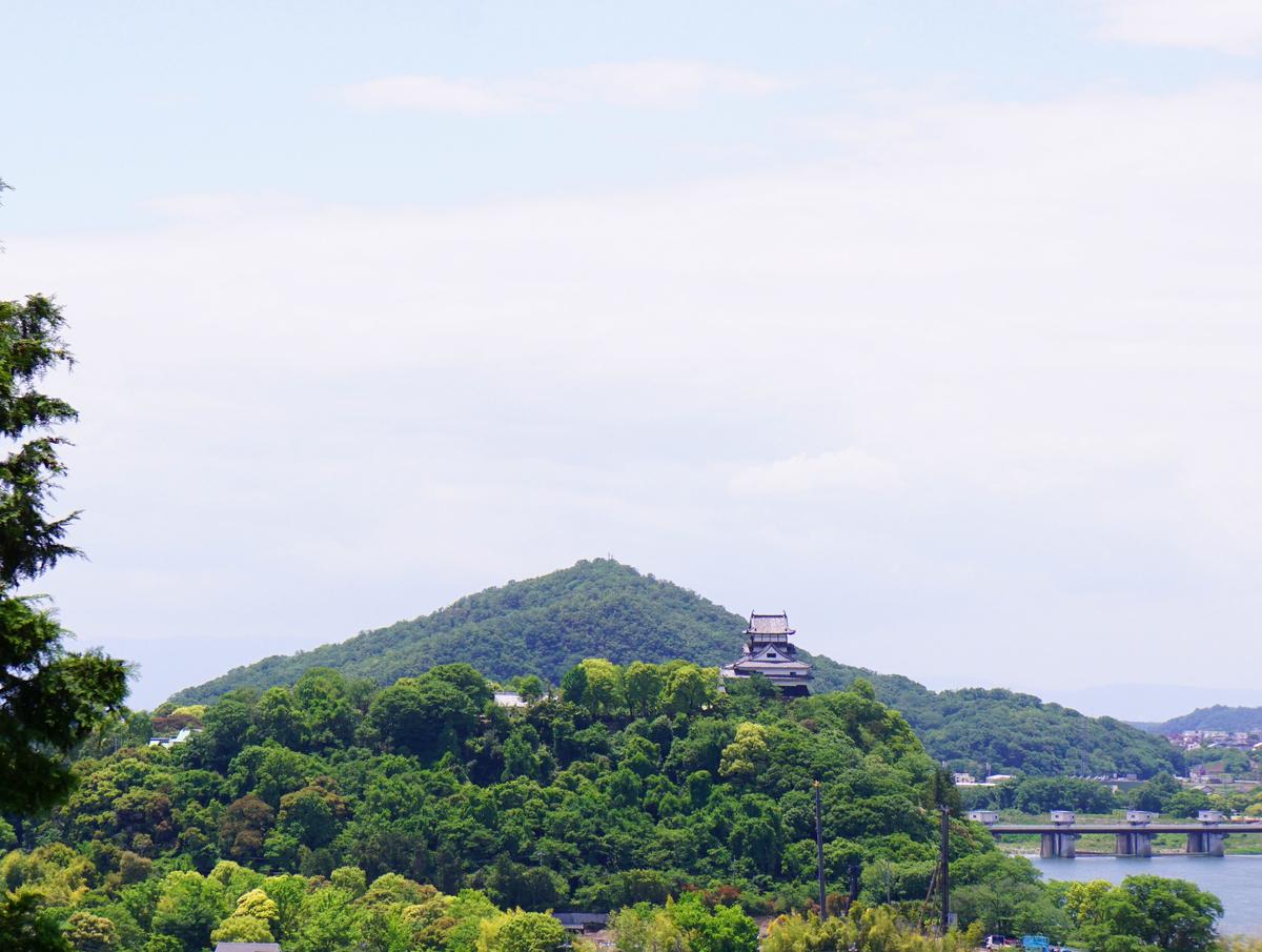 遠くから眺めた犬山城