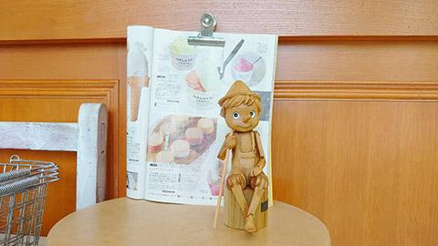 ピノキオ店内のピノキオドール