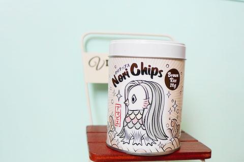株式会社山本海苔店のアマビエ缶入り海苔チップス