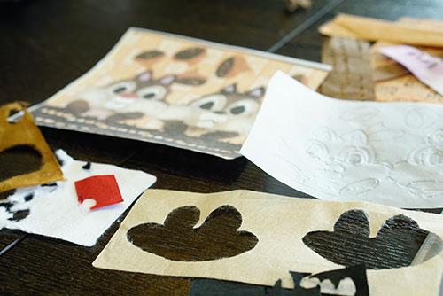 和紙を使ってちぎり絵にチャレンジ