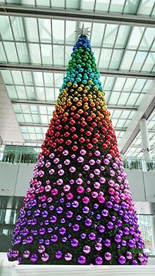 名古屋タカシマヤゲートタワーのツリー