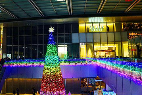 名古屋タカシマヤゲートタワーモール前のイルミネーション