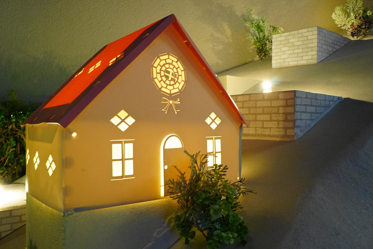 星ヶ丘テラスのミニチュアハウスのイルミネーション