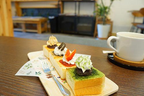 犬山きな粉カフェで幸せトースト