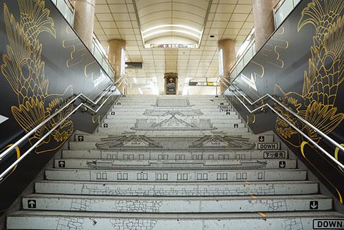 名古屋市営地下鉄 市役所駅の階段