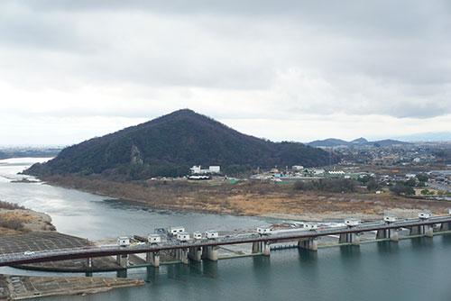 犬山城の最上階4階望楼からの眺め