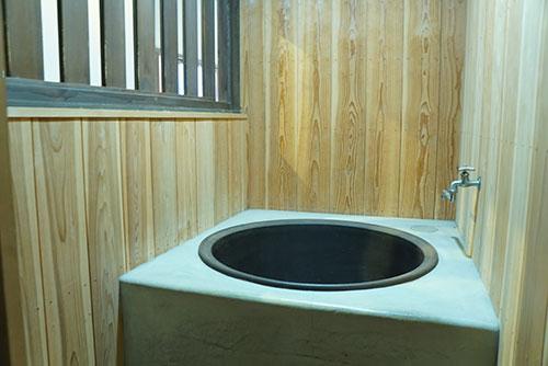 旧磯部家住宅の五右衛門風呂