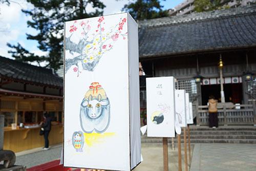 菅生神社の干支の灯篭