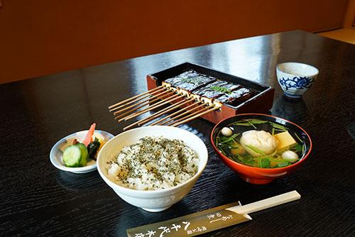 八丁味噌田楽・菜めしセット