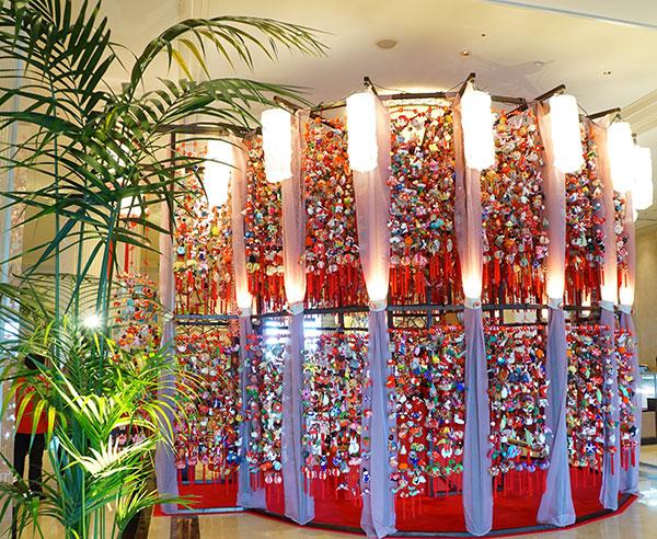 名古屋マリオットアソシアホテルでのつるし雛飾り