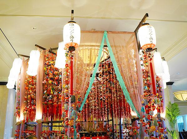 名古屋マリオットアソシアホテルの雛のつるし飾り