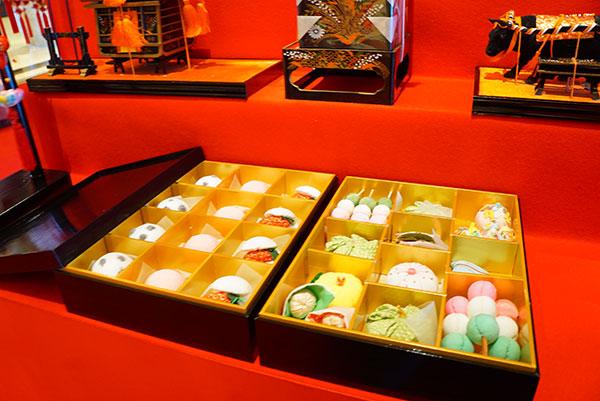 布製の和菓子