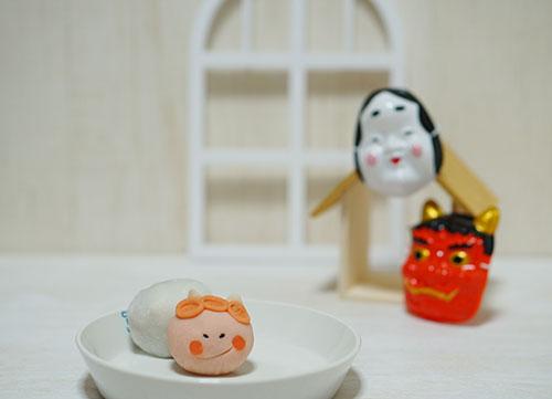 もち観で購入した鬼の和菓子