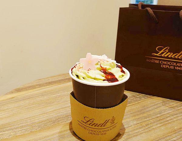 リンツチョコレートのさくら咲く チョコレートドリンク