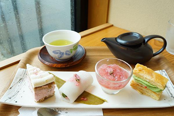 茶縁の桜スイーツ、小春日和