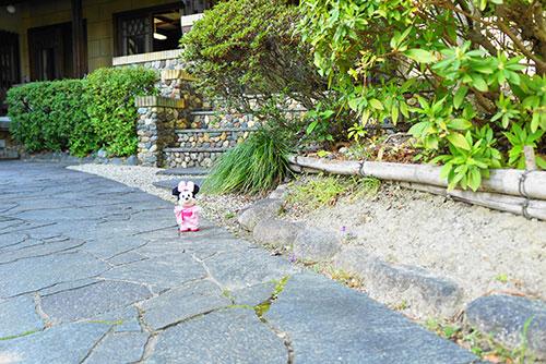 お庭で記念撮影