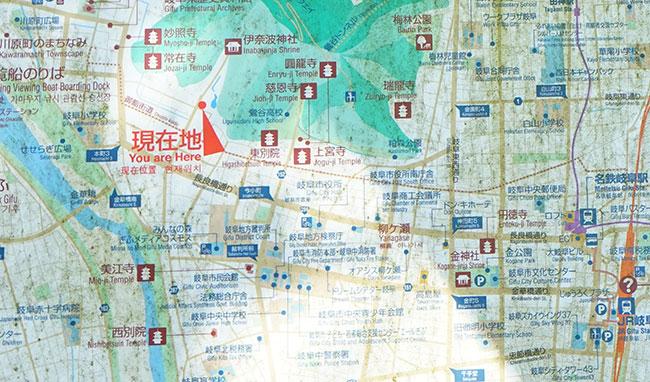 岐阜市の地図