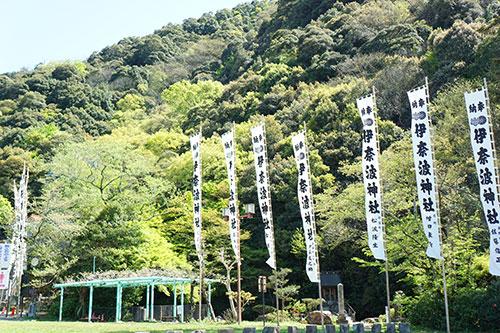 伊奈波神社まわり一帯の緑