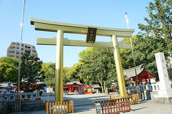 ゴールドの鳥居の金神社