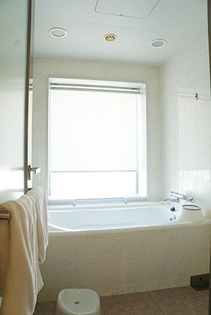 ホテルエミオンの和洋室のバスルーム