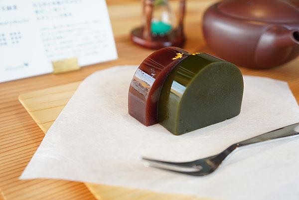 あずきと緑茶のようかん