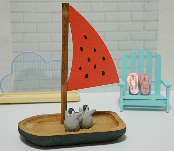 スイカのヨット