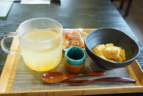 ゆず茶と豆乳わらび餅