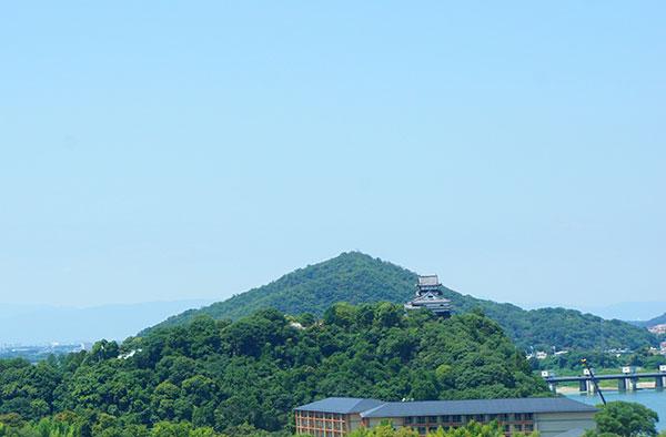 犬山成田山から見た犬山城