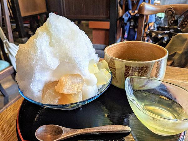 ゆずのかき氷&お抹茶